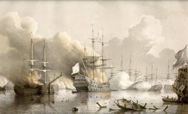 De slag bij Tobago door P.J. Schotel, 1850 (Collectie Marinemuseum)