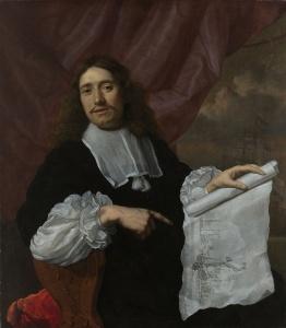 Portret van Willem van de Velde de Jonge door Lodewijk van der Helst, ca. 1660-1672 (Collectie: Rijksmuseum)