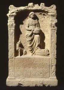 Een Nehalennia-altaar (Collectie Rijksmuseum van Oudheden, Leiden)