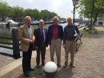 Vier winnaars van de Warnsinck-prijs bijeen