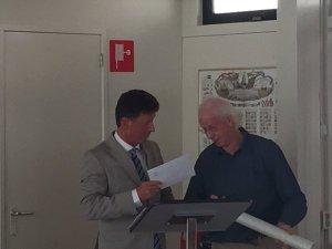 Uitreiking Warnsinck-prijs aan Thedo Fruithof