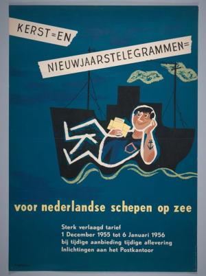 kerst- en nieuwjaarstelegrammen voor Nederlandse schepen